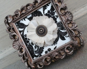 Hand made treasure or jewelry box hand made OOAK wood alice in wonderland style