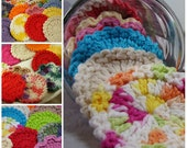 30 Facial Scrubbies, Assorted Colors and Styles, Multi Pack, 100% Cotton, Eco Friendly, Bridesmaid Gift
