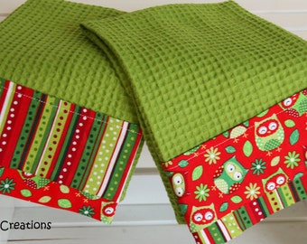 Kitchen Christmas Towels, Set of 2