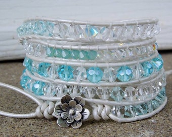 Ocean sparkle Wrap bracelet