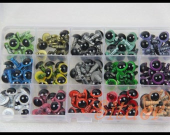 75 pairs-Kit of 12mm Color  Safety Eyes for crochet doll