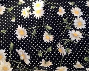 Fabric 1990's semi sheer polyester print