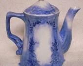 Painted Teapot, Painted Porcelain Teapot, China Painted Roses Teapot, Painted Blue Teapot, Pen/Ink Designed/Painted Teapot, OFG Team