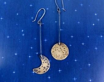 Under a Bright Golden Moon Earrings