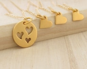 Mother Daughter Necklace Daughter Necklace Mother Necklace Daughter Gift Heart Necklace Mothers Day Gold Set Gold Jewelry Sister Jewelry
