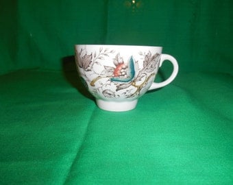One (1), Vintage Flat Teacup, from Wood & Sons, in the Jamestown Pattern.