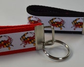Crab Key Chain, Wristlet, Key Fob