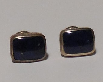 Lapis and Sterling Silver Konstantino Cufflinks