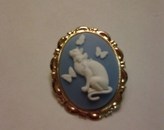 Cat Cameo Brooch/Necklace