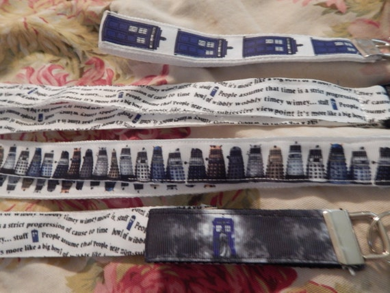 Jedi Lizzy- Dr Who Webbed Lanyard or keychain - Pick a style!