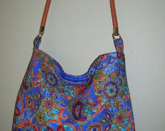 Paisley Print Hobo Bag