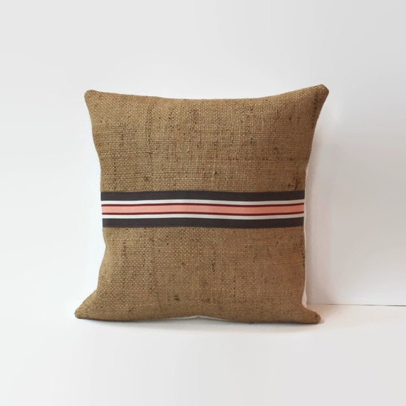 Rustic Decorative Pillow Covers : Items similar to burlap pillow cover // rustic accent pillow // twelve inch pillow // 12X12 ...