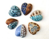 Romantic Gift  ,Hearts, Porcelain Hearts, Keepsake, Jewelry Making Supplies