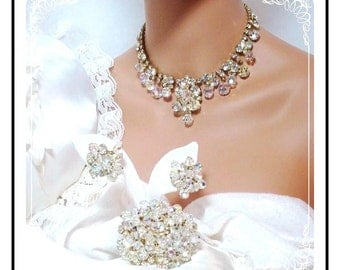 Brides Crystal Parure - Must C Outstanding Dripping Rhinestone Juliana D&E  Para-124a-011808085