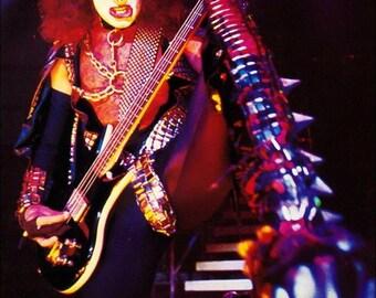 KISS Gene Simmons Love Gun / ALIVE II Era Poster Stand-Up Display