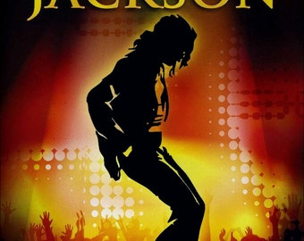 Michael Jackson Colorful Collectible Memorial Stand-Up Display Frameable 1980's 1990's World History Tour Jackson 5 Michael Jackson Poster