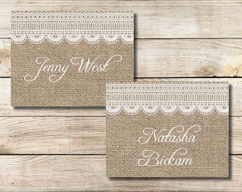 Place Cards Editable DIY - INSTANT DOWNLOAD
