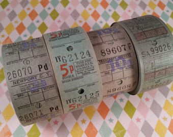 2 Dozen Vintage Bus Tickets | Blue and Green Travel Tickets | LAST ONES