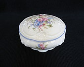 Porcelain jewelry box Vintage 'THOMAS IVORY' Bavarian Germany