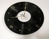 John Lennon and Yoko Ono - Vinyl LP record album clock. - Double Fantasy - Upcycled