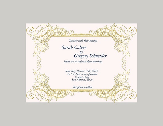 Cheap Cardstock For Wedding Invitations : to Made to order cheap vintage scroll wedding invitation, invites ...