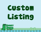 Custom Listing for fifib14: Chubby Unicorn Keychain
