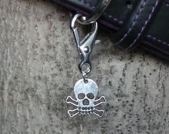 Skull and Crossbones Dog Collar Charms
