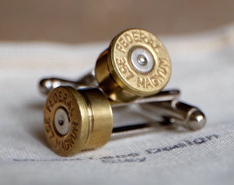 Bullet cuff links 357 magnum revolver groomsmen gift groom gift camo wedding gift police cop .357 cufflinks country wedding