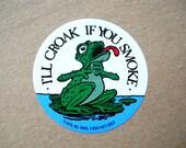 Vintage Stickers - Frog Stickers - Smoking Stickers - Vintage Ephemera
