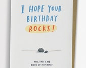 Hope Your Birthday Rocks Card, Funny Birthday Card / No. 228-C