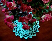 Crochet doily mint green handmade classic doily cottage chic large