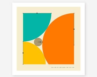 DESCARTES THEOREM, Modern Geometric Abstract Art, Giclee Fine Art Print by Jazzberry Blue