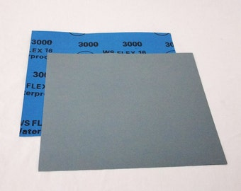 "3000 Grit  Wet / Dry Sand Paper  9""x11"" Sheets Package  Of 10"