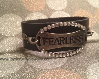 Fearless  Leather Cuff