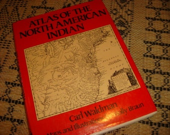 Vintage Atlas of American Indians Book North American Indian Info Book Rescource