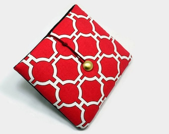 Hand Crafted Tablet Case from Red and White Geometric Fabric /Case for: iPad Mini, Kindle Fire HD7, Samsung Galaxy 7, Nexus, Holiday Gift