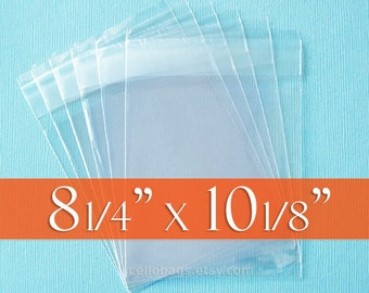 500 Lip and Tape  8 1/4 x 10 1/8 Cello Bags for 8x10 Photo