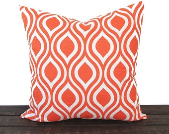 Orange pillow cover Nicole Tangelo Orange cushion cover modern pillows