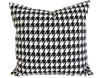 Houndstooth throw pillow cover One cushion cover pillow sham black and white throw pillow covers black modern decor