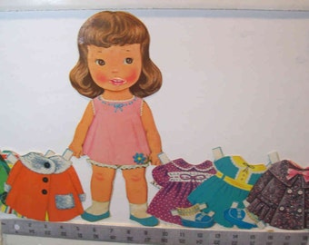 On Clearancy -Vintage My Dolly Kisses paper doll Lowe #5908 1963
