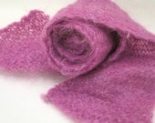 Hand Knitted Wool Pink Colored Scarf