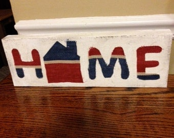 """HOME block for your decor   14"""" x 5"""""""