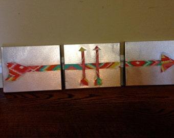Arrow canvas  woven fabric
