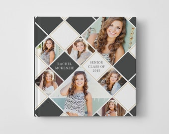 Photo Book Cover Template for Photographers, Senior Album Templates, Senior Photo Book Cover Template, Senior Templates - BC105