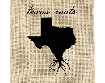 Texas Roots Unframed Wall Art, Custom Wall Art, Know your roots, Custom State Outline