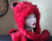 Red Fox Hat, scarf and mittens