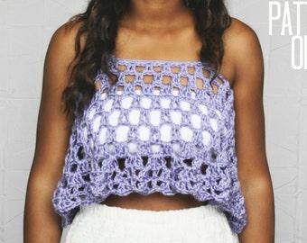 The New Sounds Hippie Crochet Tank Pattern. Instant Download. Crochet Pattern.