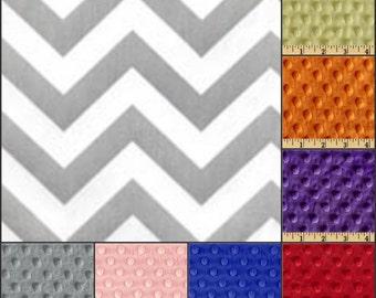 Premier Prints Zigzag Gray Minky Baby Blanket
