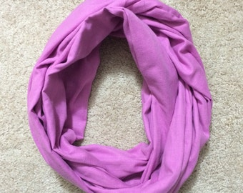 Double Gauze Infinity Scarf - Solid Lavendar