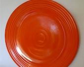 Fiestaware Poppy Orange Chop Plate Platter, Serving Plate, Cake Plate